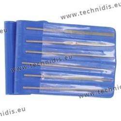 Set of 6 needle files