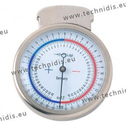 Lens clock with sapphire tips