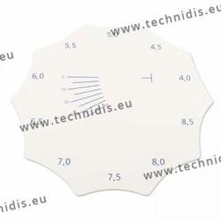Jauge pour mesure la base des verres