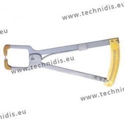 Outil pour mesurer l'épaisseur des verres - Machoires larges