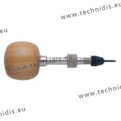 Screwdriver with oversized wood ball handle