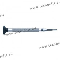 Screwdriver with flat blade diameter 2.2 mm + cross blade diameter 2.5 mm