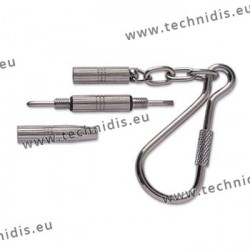 Pocket screwdriver - nickel plated - 3 functions