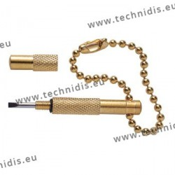 Pocket screwdriver - gold plated