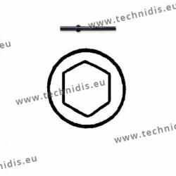 Lame de rechange écrous hexagonaux 2,2 mm