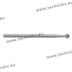Fraise en acier outil ronde Ø 2,5 mm