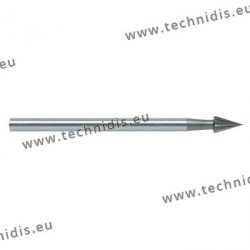 Conical tool steel cutter diameter 2.0 mm