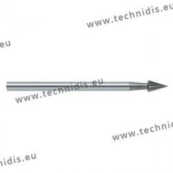 Fraise en acier outil conique Ø 2,0 mm