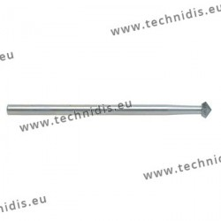 Biconical tool steel cutter 45 deg diameter 2.9 mm