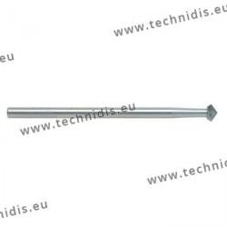 Fraise en acier outil biconique 45° Ø 2,9 mm