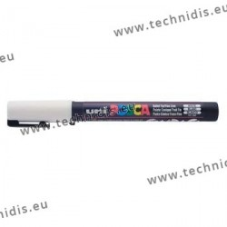 White Posca Lens marker - Large line 2.5 mm