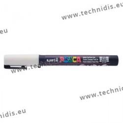 Gouache blanc uni Posca - Trait large 2,5 mm