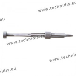 Screw holding tweezers with locking system