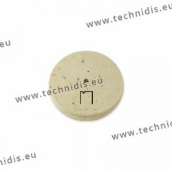 Hard felt wheel, diameter 102 mm, with V groove