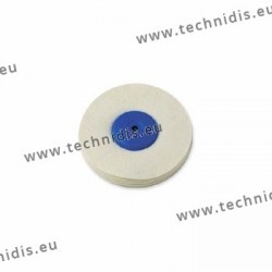 Soft felt wheel, plastic center, diameter 100 mm