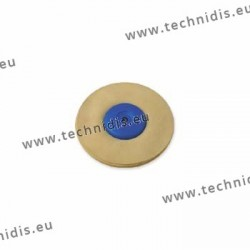 Leather wheel, plastic center, diameter 90 mm