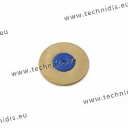 Disque chamois, centre plastique, Ø 90 mm