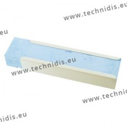 Blue polishing compound in metal sleeve