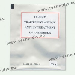 Anti-UV treatment in powder