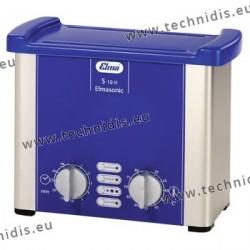 Appareil de nettoyage par ultrasons 0,8 l. avec chauffage