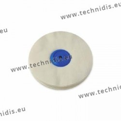 Flannel wheel, plastic center, diameter 100 mm
