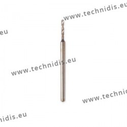 Twist drill bits with strong shank diameter 0.9 mm