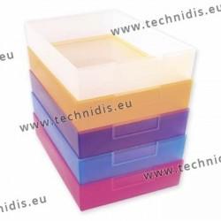 Péniches violettes 240 x 167 x 49 mm