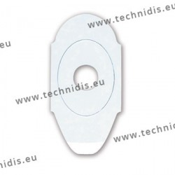 Lens edging pads - oval - Ellipse-Nano - 17x30 mm