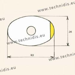 Films antitorsion pour verres traités - ovale