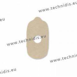 Pastilles autocollantes pour blocs souples - 17x30 mm