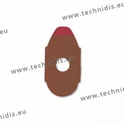 Lens edging pads for hard blocks - 17x33 mm