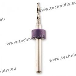 Foret hélicoïdal en carbure de tungstène Ø 1,9 mm
