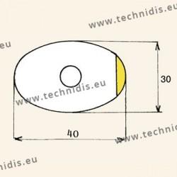 Films antitorsion pour verres traités - ovale grande taille