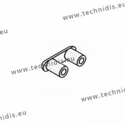 Cavaliers plastique 3 mm - montage métal - 25 pièces
