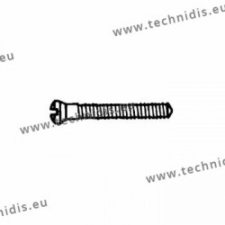 Screw in stainless steel 1.4 x 1.8 x 10.6 - white