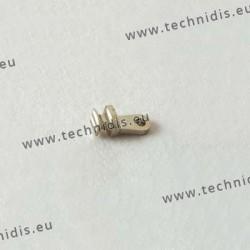 Charnière à incruster - Elément face - 1,0 mm
