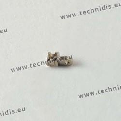 Charnière à incruster - Elément face -  1,6 mm