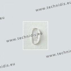 Plaquettes à clipper 15 mm asymétriques - silicone - 10 paires