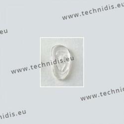Plaquettes à clipper 19 mm asymétriques - silicone - 10 paires