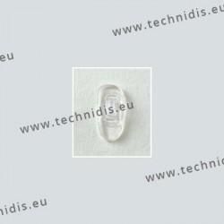 Plaquettes à clipper 17 mm asymétriques - silicone - 20 paires