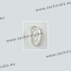 Plaquettes à clipper 19 mm asymétriques - silicone - 100 paires