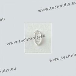 Plaquettes à clipper 13 mm symétriques - silicone - 10 paires