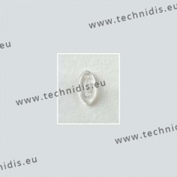 Plaquettes à clipper 13 mm symétriques - silicone - 100 paires