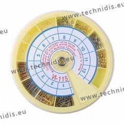 Assortiment de composants pour montage verres percés - blanc et doré