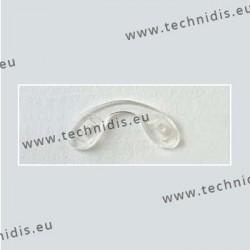 Plaquettes à clipper 23,3 mm jumelées - silicone - 5 pièces