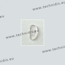 Asymmetrical screw on nose pads 15 mm - silicone - 10 pairs