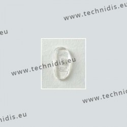Asymmetrical screw on nose pads 17 mm - silicone - 10 pairs