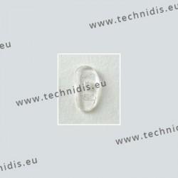 Plaquettes à visser 17 mm asymétriques - silicone - 10 paires