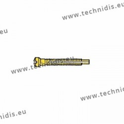 Screw with locking system by nylon thread 1.3 x 1.8 x 11 - gold