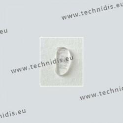 Plaquettes à visser 15 mm asymétriques - silicone - 100 paires
